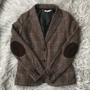 Beautiful Brown Plaid Blazer - Like New!
